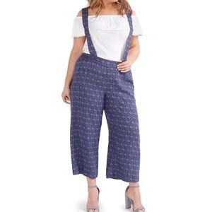 love and legend wide leg suspender pants